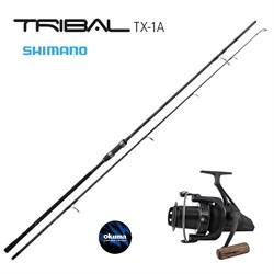 Карповый набор Shimano Tribal Carp TX-1A 13ft 3.5lb + Okuma 8K - фото 13431