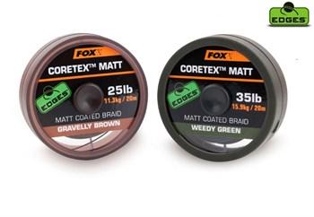 Поводочный материал Fox Edges Coretex Matt - фото 5684