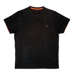Футболка Fox Cotton T-Shirt Black/Orange - фото 8480