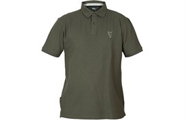 Футболка Fox Collection Green and Silver Polo Shirt