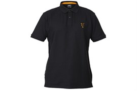 Футболка Fox Collection Orange and Black Polo Shirt