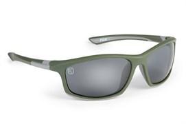 Серебристо-зеленые солнцезащитные очки Fox