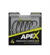 Крючки RidgeMonkey Ape-X Medium Curve 2XX Barbed