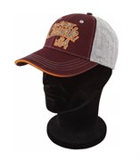 Бейсболка Fox CHUNK Grey/Burgundy/Orange Baseball Cap