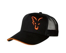 Бейсболка Fox Black and Orange Trucker Cap
